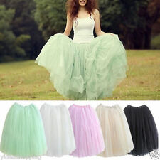 New Women's Multi-layer Elastic Stretchy Tulle Tutu Skirt Petticoat Candycolor