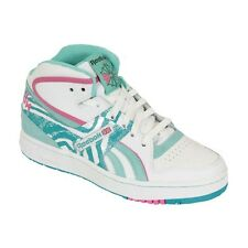 New Reebok Pro Legacy Mid Womens Hi Top Trainers White Green Pink Retro Size 3-9