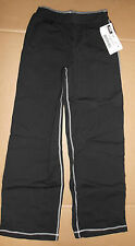 NWT  Dancer Jazz Coverup Pants Black w/ white stitching Cotton Spandex COMFY