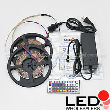 32-ft SMD5050 LED RGB Color-Changing Light Strip Controller Remote Power Supply