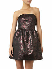 Pied A Terre RRP £150 House of Fraser Dark Purple Red Brown Cocktail Party Dress