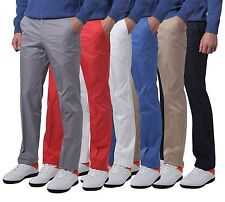 Mens solid golf pants for men stretch tech 5 pocket trousers 30 32 34 36 38 40