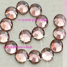 Light Pink Rose Iron On Flatback Hotfix Rhinestone Crystal Glass Craft Diam​ante