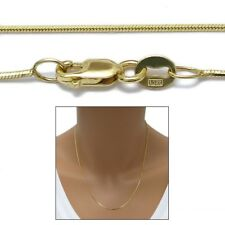 "10K Yellow Gold Diamond Cut Snake Chain Necklace 0.8mm 020 gauge 16""-24"""