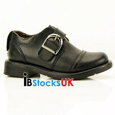 Boys Casual School Shoes Velcro Kids Boys Shoes 6 7 8 9 10 11 New A-215 Black