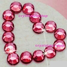 Pink Rose Iron On Flatback Hotfix Rhinestones Crystal Glass gems Nice Diam​ante