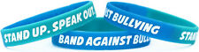 Single Band Against Bullying Wristband - Anti Bullying Silicone Rubber Bracelet