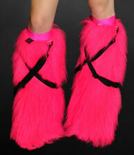 Cyber Bunny SWITCH UV NEON PINK detachable strap colour change fluffies! raver