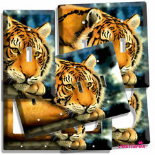 WILD SIBERIAN TIGER BLACK STRIPE LIGHT SWITCH OUTLET WALL PLATE COVER ROOM DECOR