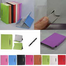 "Colorful Flip Leather Case Cover+Stylus For 8"" Aluratek CinePad AT208F/zte v80"