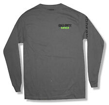 """CALL OF DUTY """"MW3"""" CHARCOAL GREY LONG SLEEVE T-SHIRT NEW OFFICIAL ADULT"""