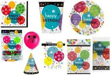 HAPPY BIRTHDAY (BREEZY STYLE) PARTY RANGE ITEMS TABLEWARE  - ALL IN 1 LISTING!