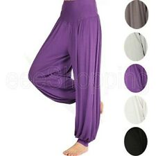 Modal Women Comfy Harem Casaul Loose  Long Pants Dance Club Boho Wide Trousers
