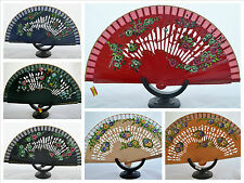 Spanish flamenco wooden hand fans eventails fächers ventagli abanicos Spain