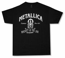 """METALLICA """"WHISKEY IN THE JAR"""" BLACK T-SHIRT NEW OFFICIAL ADULT SINCE 1981"""