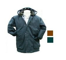 Mens Padded Jacket British Wax Waxed Coat 100% Waxed Cotton Warm Countrywear