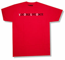 """DRAKE """"YOU ONLY LIVE ONCE"""" RED T SHIRT NEW OFFICIAL ADULT YOLO RAPPER"""