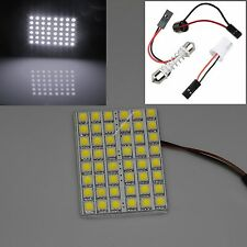 Dome Adapter Pure White 5050SMD 48LED Car Interior LED Light Lamp Panel T10 12V