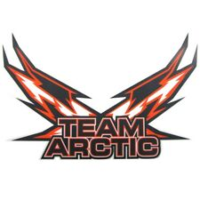 "Arctic Cat Team Arctic Flag Decal Sticker - Orange - 6"" 12"" 24"" - 5239-73_"