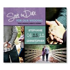 Modern Square Save The Date Wedding Magnets With Envelopes Custom Personalized