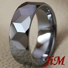 Mens Ring Shiny Wedding Band Tungsten Carbide Titanium Color Jewelry Size 6-15