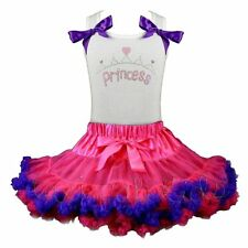 Pettiskirt Tutu 2 Piece Set Boutique Fairy Princess Crown Hearts NWT 1-8/9 Yr