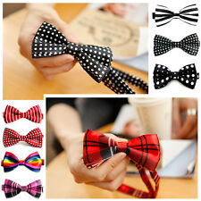 New Mens Pre-tied Tuxedo Groomsman Wedding Party Dress Adjustable BowTie Necktie