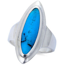 FINE NATURAL TURQUOISE .925 Sterling Silver Ring Sizes 6-10