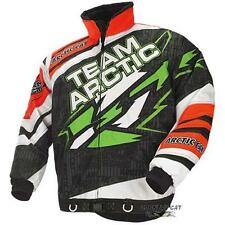 Arctic Cat 2014 Men's Sno Cross Snowmobile Race Jacket - Orange / Green 5240-27_