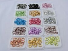 100 ROUND 4.5MM COLORED ALUMINUM JUMPRINGS 20 GAUGE OPEN JUMP RINGS