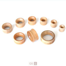 Carved Beech Wood Flesh Tunnels Smooth Wooden Ear Stretching Kit Plugs