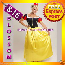 B55 Adult Snow White Princess Costume Halloween Storybook Fancy Dress Outfit