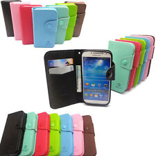 ZY Deluxe Card Flip Wallet Leather Candy Case TPU Cover Book For iPhone Samsung