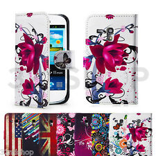 PU LEATHER WALLET CASE COVER FOR SAMSUNG GALAXY S3 MINI i8190 SCREEN PROTECTOR