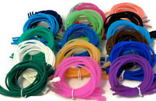 """FOUR 18"""" SILICONE RUBBER NECKLACE SNAP CLASP STRETCH PENDANT CORDS"""