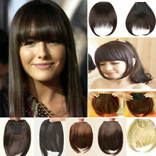 Graceful hairpiece short Straight bangs Clip In On Fringe Hair Extensions