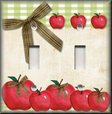 Light Switch Plate Cover - Country Kitchen Apples - Home Decor - Apple Decor