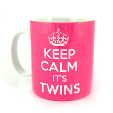 KEEP CALM IT'S TWINS GIFT MUG CUP CARRY ON NEW BIRTH SCAN PREGNANCY BABY  MOM