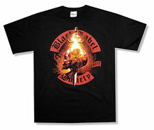 BLACK LABEL SOCIETY - FIRE BLACK T-SHIRT NEW OFFICIAL ADULT BLS SKULL BANNER