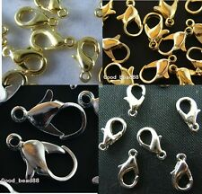 LOTS OF Silver Plated/Golden Metal Finding DIY Lobster Parrot Claw Clasps