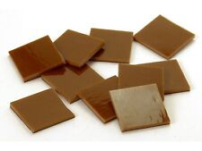 Brown Opal Fusible 96 Mosaic Glass Tile * Cut to Order * Shapes - Large Package