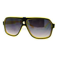 Mens Sunglasses Retro Fashion Flat Top Square Aviators 100% UVA & UVB
