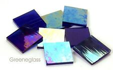 Cobalt Blue Wispy Iridized Mosaic Glass Tile Cut to Order Shapes * Half Package
