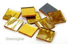 Gold Mirror Mosaic Glass Tile * Cut to Order Shapes * Half Package