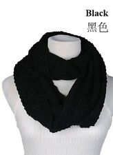 Women Winter Warm Infinity 2 Circle Cable Knit Cowl Neck Long Scarf Shawl 20 Col