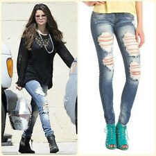 NEW WITH TAGS MACHINE JEANS RIPPED DISTRESSED DESTROYED SELENA GOMEZ TEEN DENIM