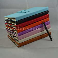 """Colorful Folio PU Leather Case+Stylus For 7"""" Kobo Arc HD/VOX Android Tablet PC"""