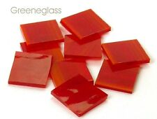 Red Wispy Mosaic Glass Tile * Cut to Order Shapes * Package