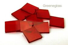 Ruby Red Cathedral Fusible 96 coe Mosaic Glass Tile Cut to Order Shape Half Pack