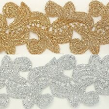 Metallic Trim Lace #141 - Embroidery Unique Motif Gift wrapping Ribbon Flower